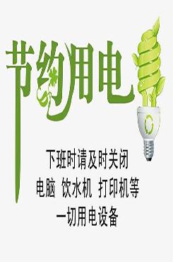企业公司节约用电宣传海报