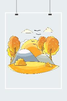 秋季日落元素