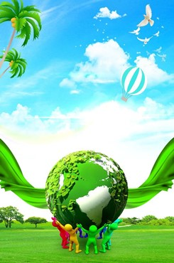 绿色环保公益主题海报