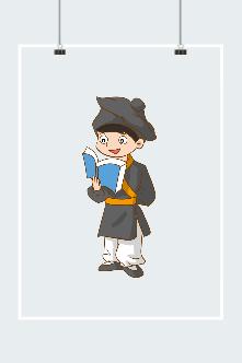 古风人物手绘插画