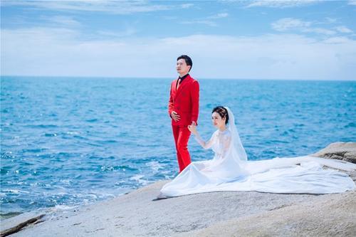 海边婚纱照图片