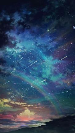 梦幻星空背景图