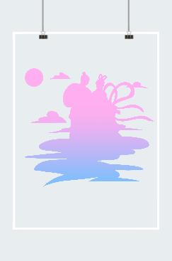 七夕牛郎织女紫色唯美