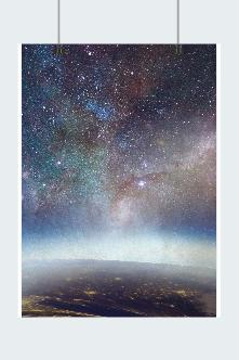 梦幻星空海报背景图