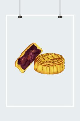 中秋月饼手绘