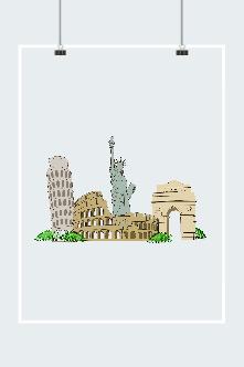 旅行城市西方建筑图片