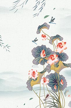 中国风荷塘月色图片