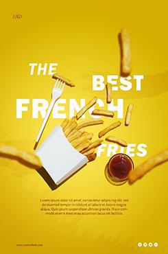 薯条美食宣传海报