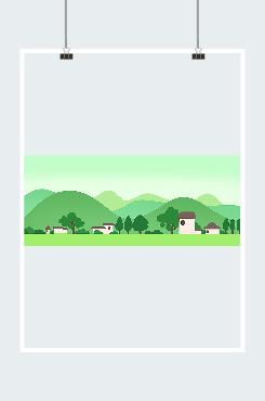 绿水青山村庄图片