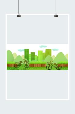 低碳出行环保图片