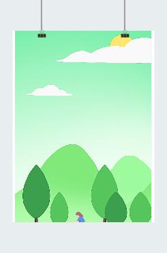 绿色森林节日素材图片