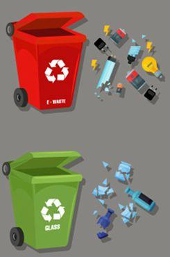 垃圾分类矢量图片