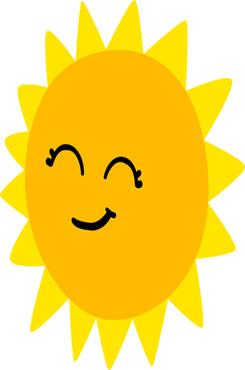 太阳卡通矢量图