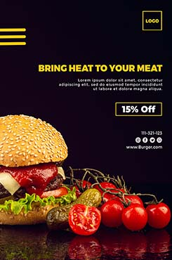 汉堡美食宣传单