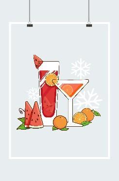 夏季饮品设计元素