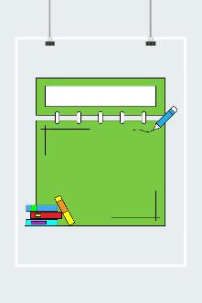 绿色创意边框素材
