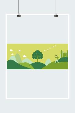 绿色城市环保背景图