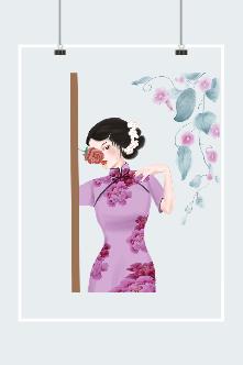 中国风妩媚旗袍美女图片