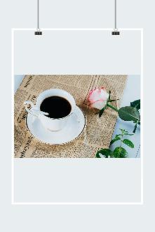 咖啡玫瑰花图片