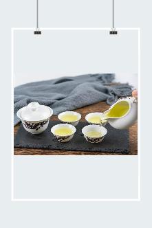 喝茶碗具广告宣传图片模板