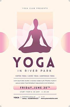 女性塑形瑜伽宣传海报