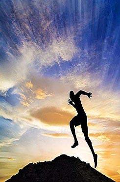 全力奔跑越过高山励志图片