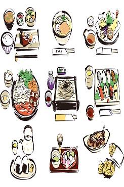 日本料理矢量图