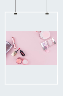 一堆化妆品图片