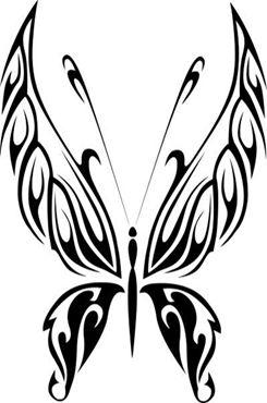 手绘黑白蝴蝶图片