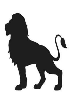 雄狮剪影素材