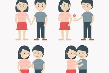 多款卡通情侣图片