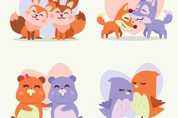 动物情侣元素