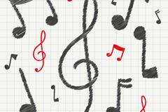 创意音符无缝背景矢量素材