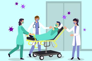 治疗病人的医生矢量素材