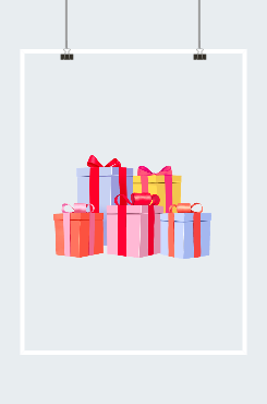 卡通礼品盒设计图片