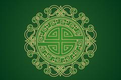 中式花纹矢量素材