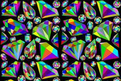 炫彩钻石无缝背景矢量素材