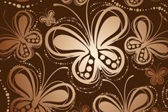 复古蝴蝶图案无缝背景