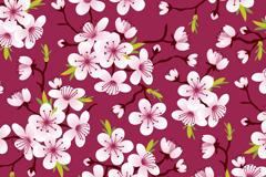 盛开的樱花无缝背景矢量图
