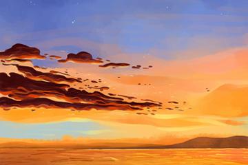 美丽海上晚霞风景图片