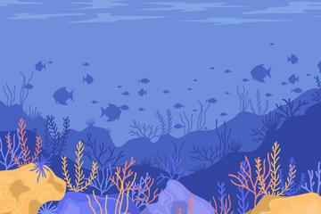 蓝色海底世界风景图片