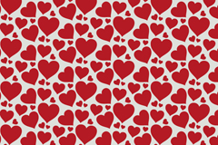 红色爱心无缝背景矢量图