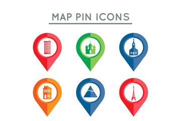 地图地标符号矢量图标