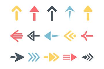 箭头图标设计矢量素材