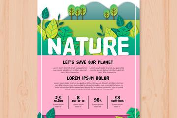 环保宣传单矢量素材