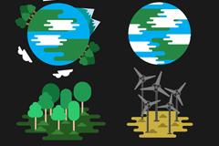地球环保图标矢量图