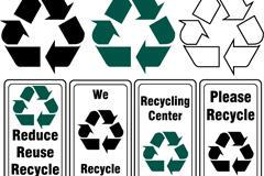 环保标志设计矢量图