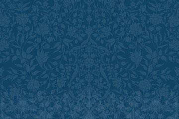 深蓝色复古花纹无缝背景图片