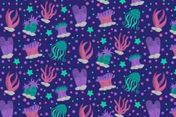 卡通海底生物背景图片