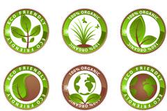 圆形绿色生态环保图标素材